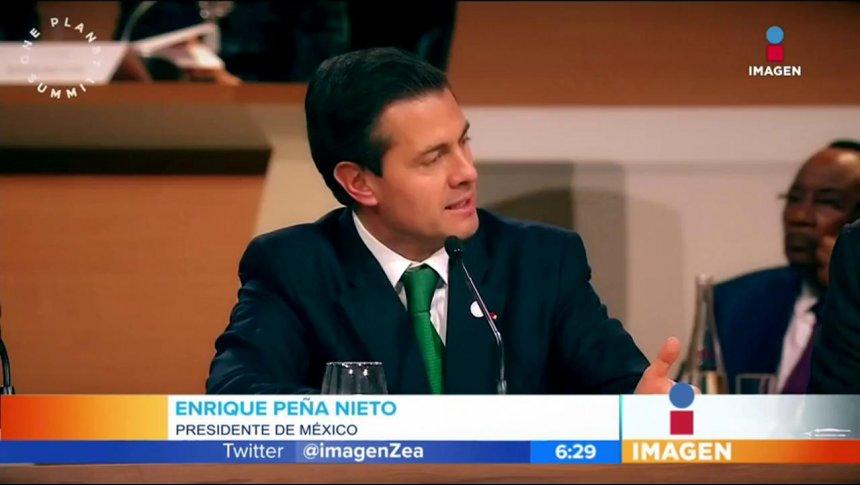 Lo que Peña Nieto dijo en la cumbre en París