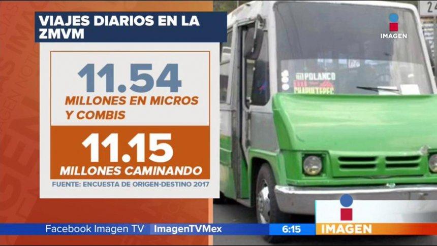 Micros y combis dominan el transporte público en la CDMX