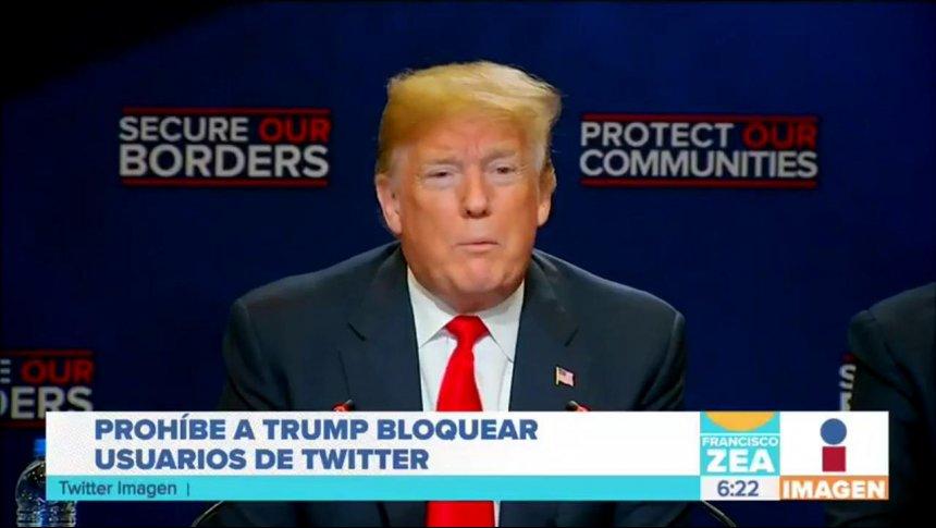 Trump viola la Primera Enmienda al bloquear usuarios