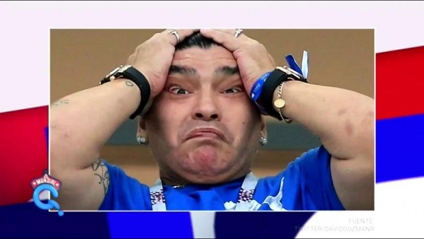 A Maradona le cae el Karma