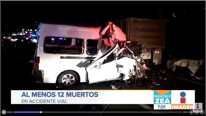 Accidente en la autopista México-Pachuca deja 12 muertos
