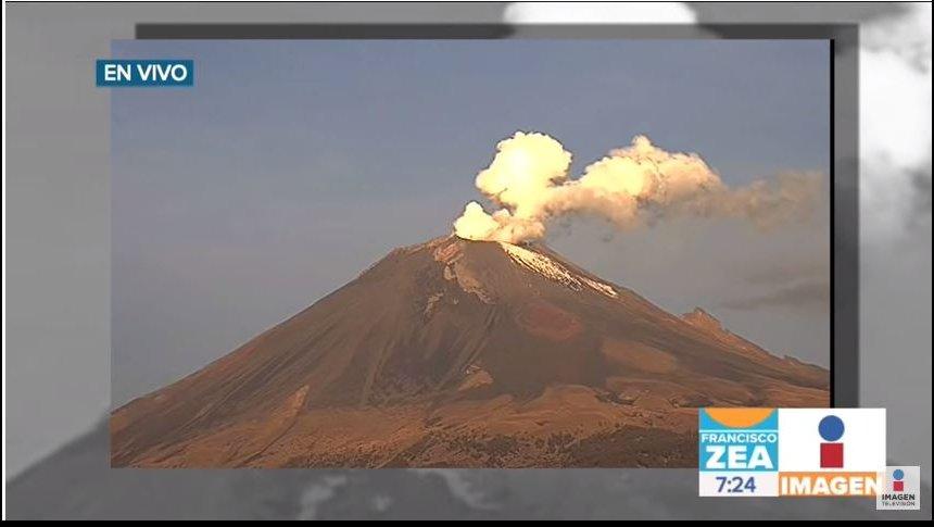 Se registra una explosión en el Volcán Popocatépetl