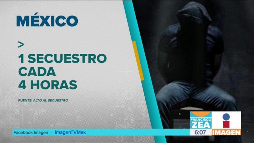 ¡En México cada 4 horas hay un secuestro!