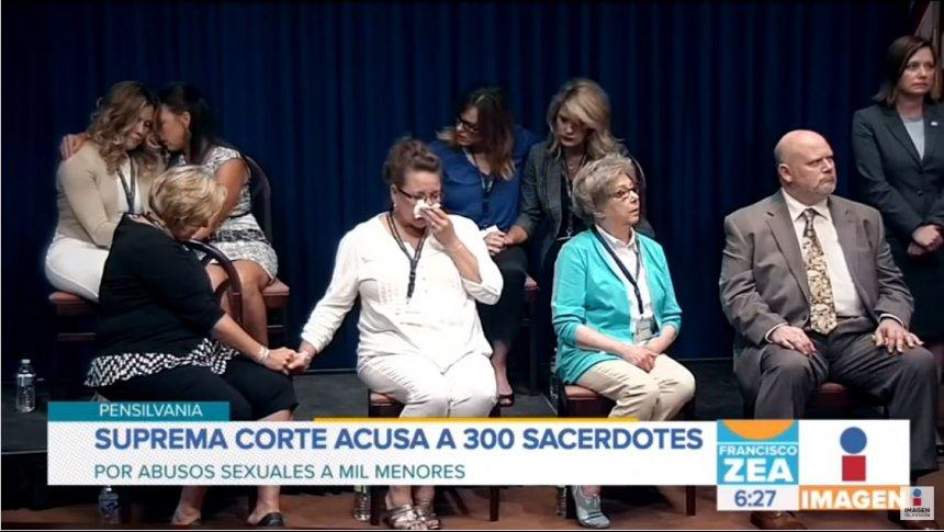 Más de 300 sacerdotes son acusados por abuso sexual en EUA