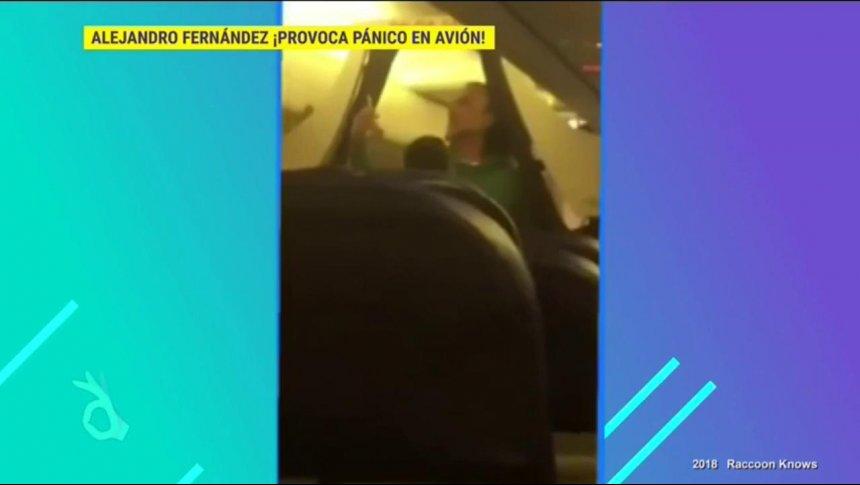 ¡Bajaron del avión a Alejandro Fernández!