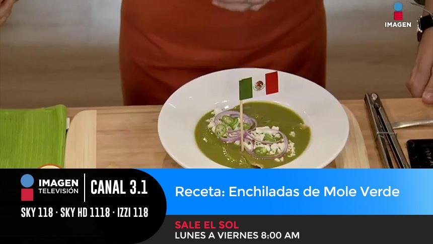 Receta: Enchiladas de Mole Verde Imagen Televisión
