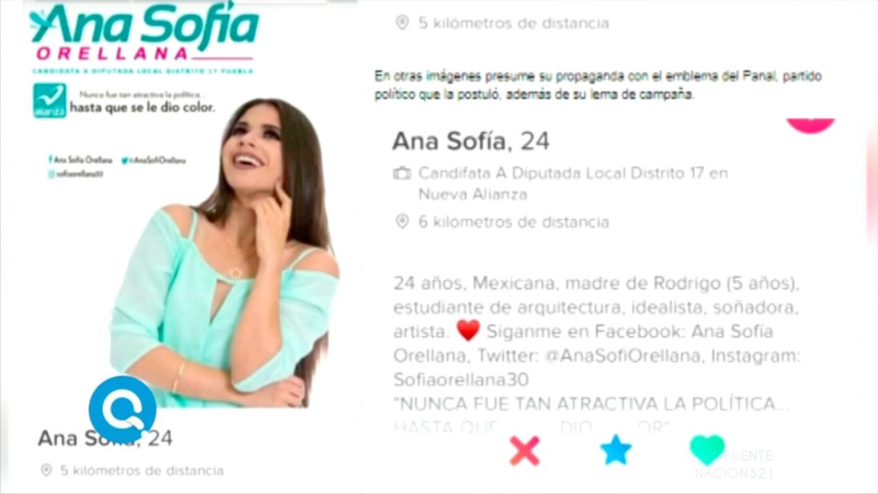 Ana Sofía Orellana esta candidata hace campaña en tinder imagen televisión