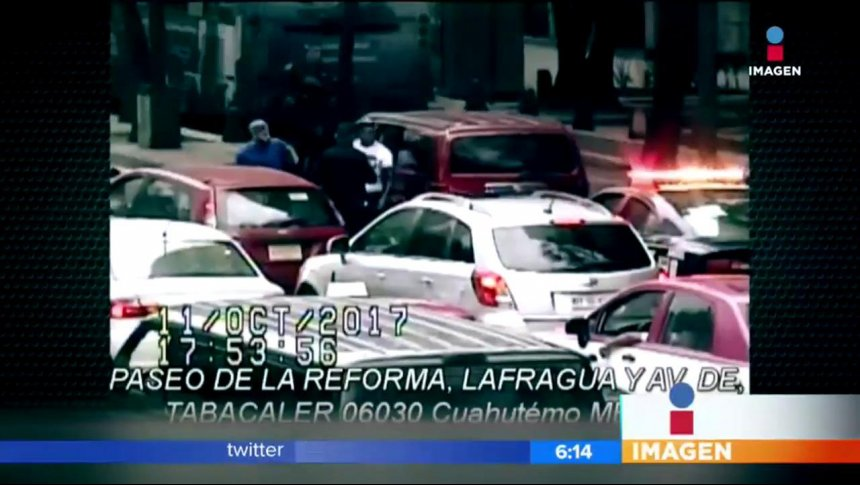 Detienen a líder de 'La Unión' en pleno Paseo de la Reforma