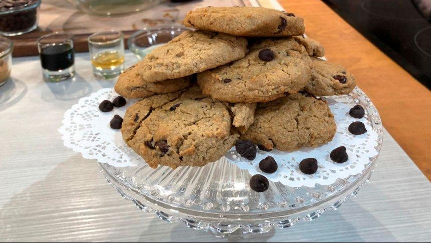 Cocina Vegana: galletas de garbanzo con chispas de chocolate