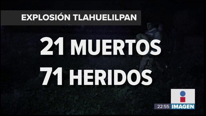 Explotó ducto de Tlahuelilpan; hay más de 20 muertos