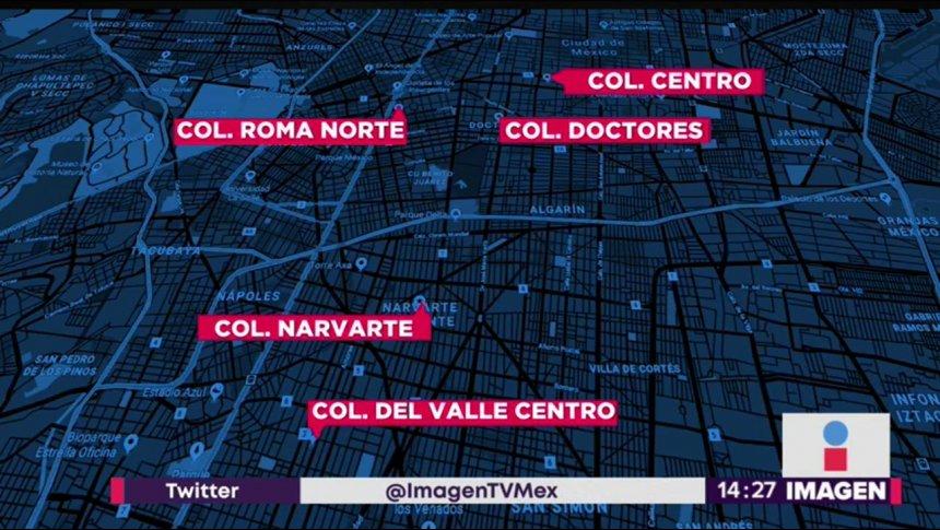 Estas son las 5 colonias más peligrosas de Ciudad de México