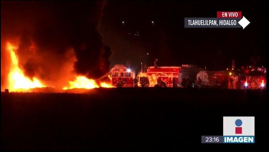 Así ocurrió la explosión del ducto de Tlahuelilpan, Hidalgo