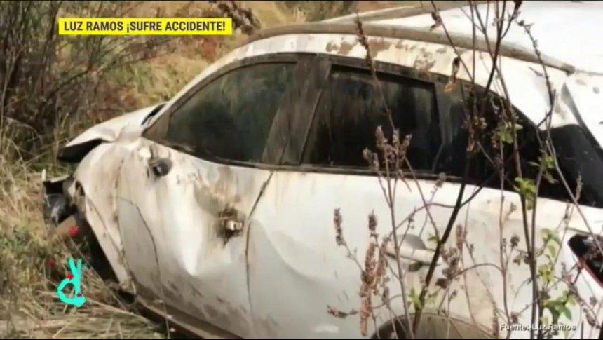 Luz Ramos sufrió un fuerte accidente