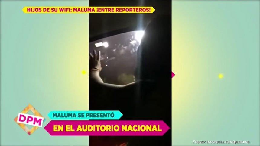 Así evade Maluma a los reporteros