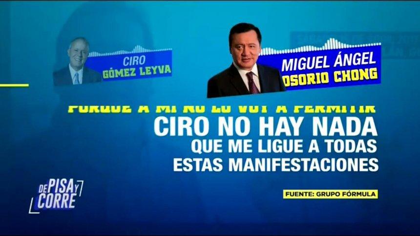Osorio Chong responde a las acusaciones de Javier Duarte