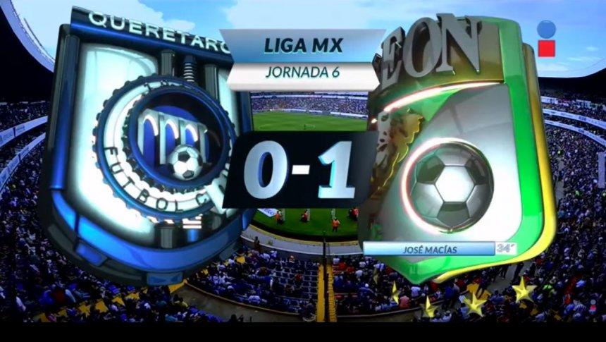 León controla el partido tras penal fallado de Romo