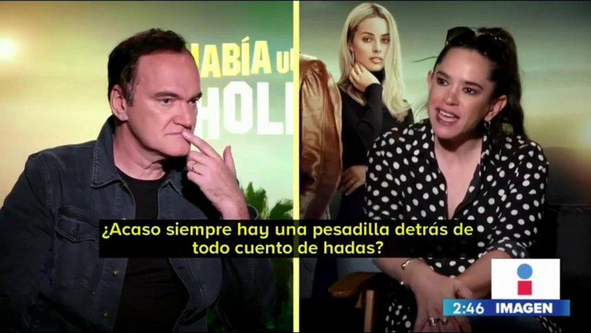 Yuriria Sierra entrevista a Quentin Tarantino