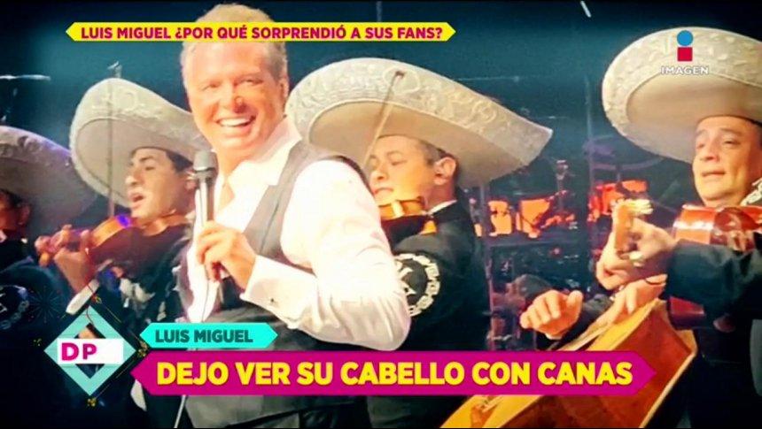 ¡Luis Miguel se dejó las canas!