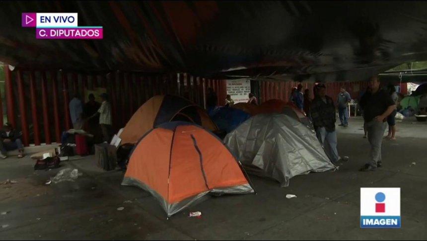 Campesinos de todo el país bloquearon Cámara de Diputados