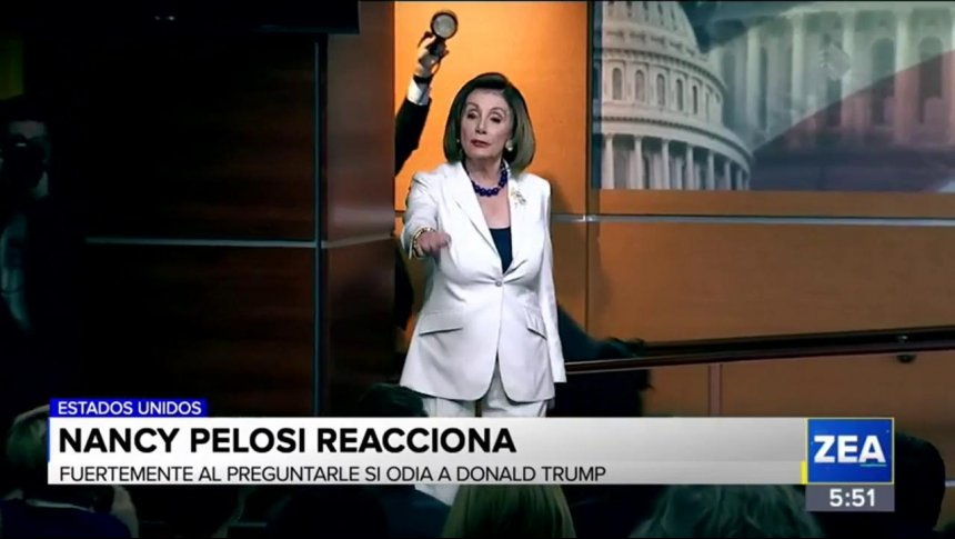 ¿Nancy Pelosi odia a Donald Trump?