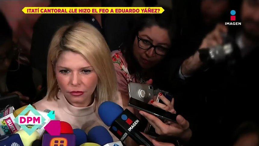 Itatí Cantoral niega conflictos con Eduardo Yáñez
