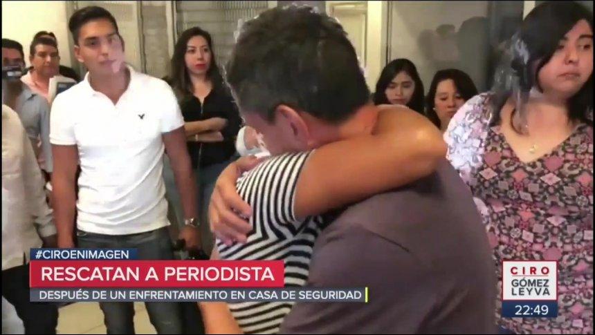 ¡Rescataron al periodista Adrián Fernández!