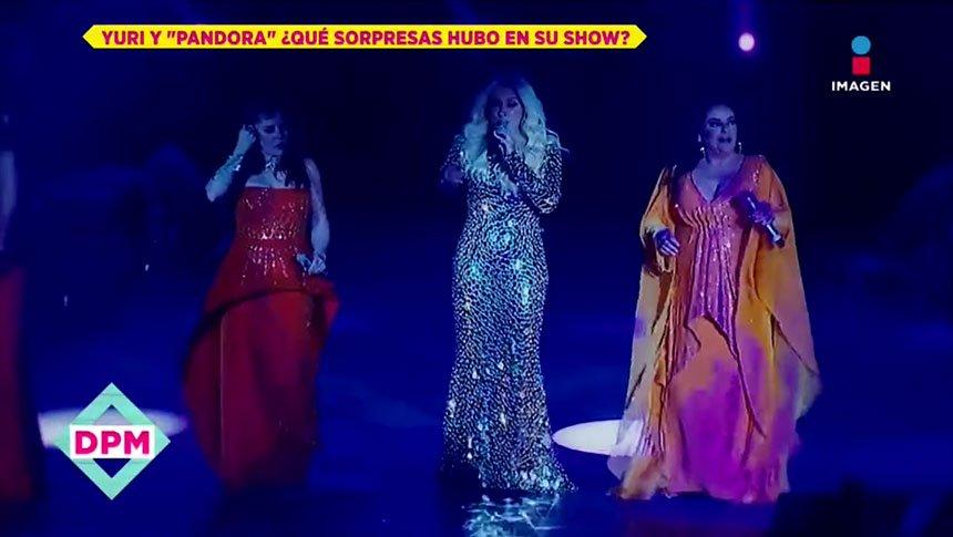 Las sorpresas en el show de Yuri y Pandora
