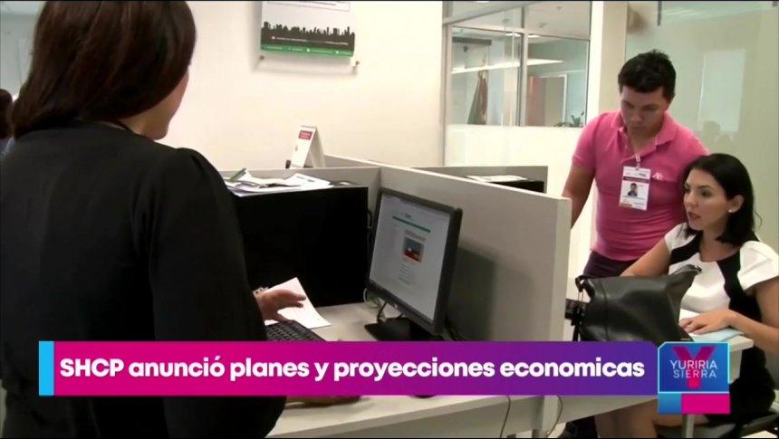 Hacienda anuncia planes y proyecciones económicas