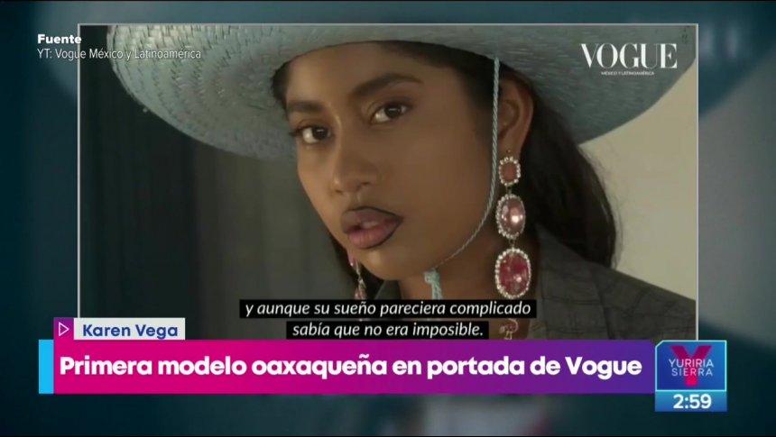 ¡Ella es la primera modelo oaxaqueña de la revista Vogue!