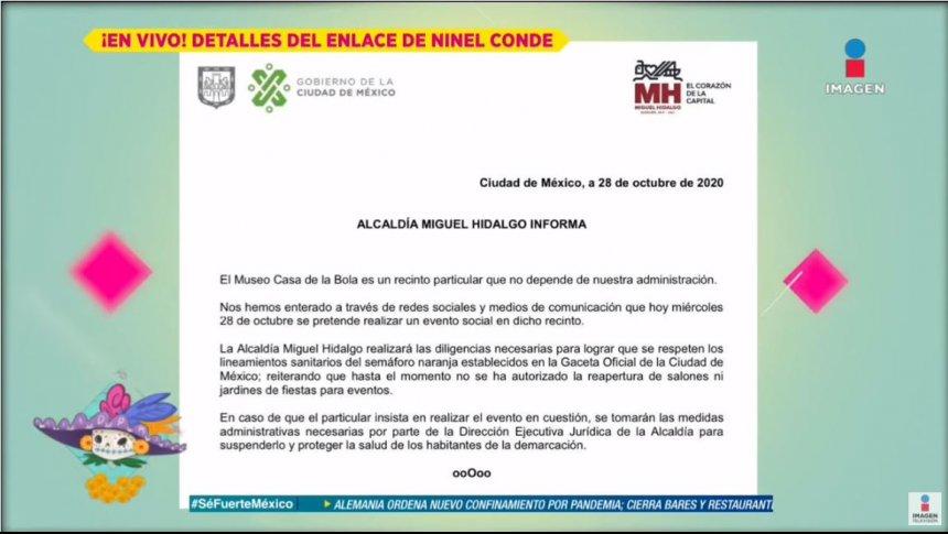 La boda de Ninel Conde podría ser cancelada por autoridades
