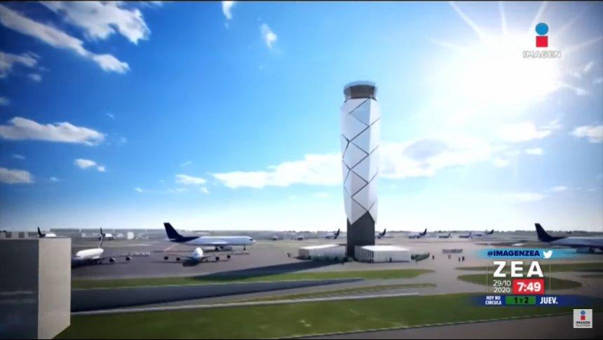 ¿Cómo se construye la torre de control en Santa Lucía?