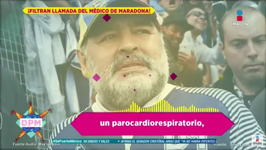¡Se filtra llamada del médico de Maradona al 911!