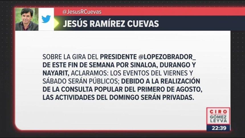 Aclaran por qué López Obrador visitará Badiraguato