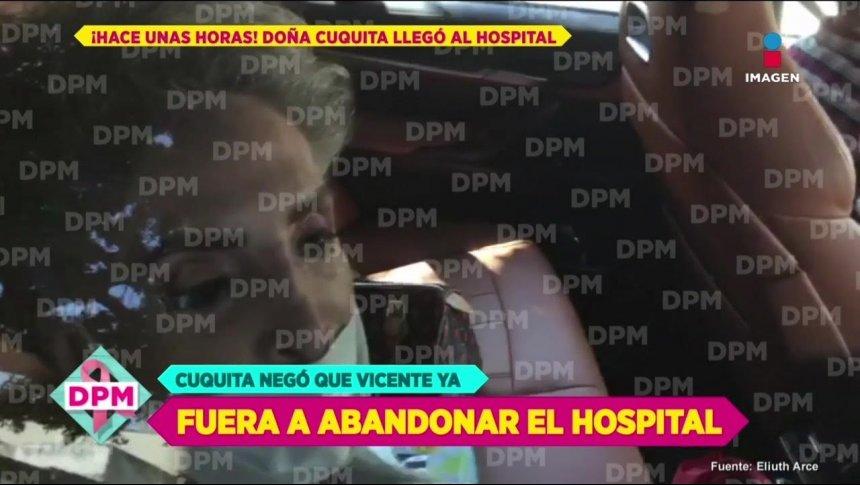 ¡Doña Cuquita desmiente que Vicente saliera del hospital!